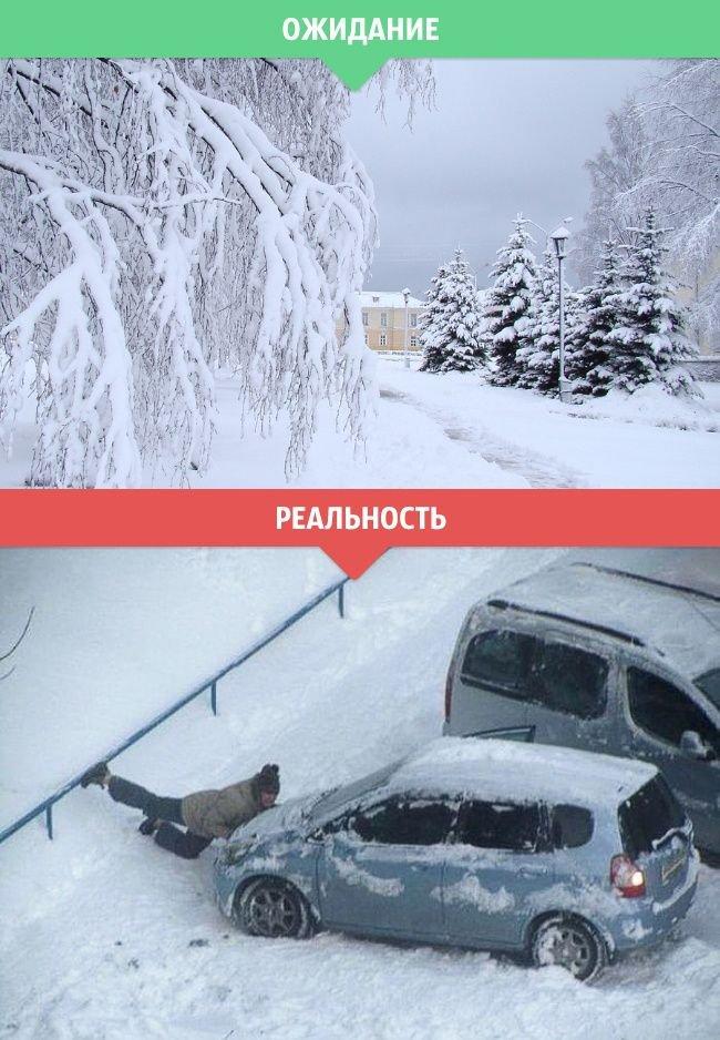 Зима. Ожидание и реальность (14 фото)