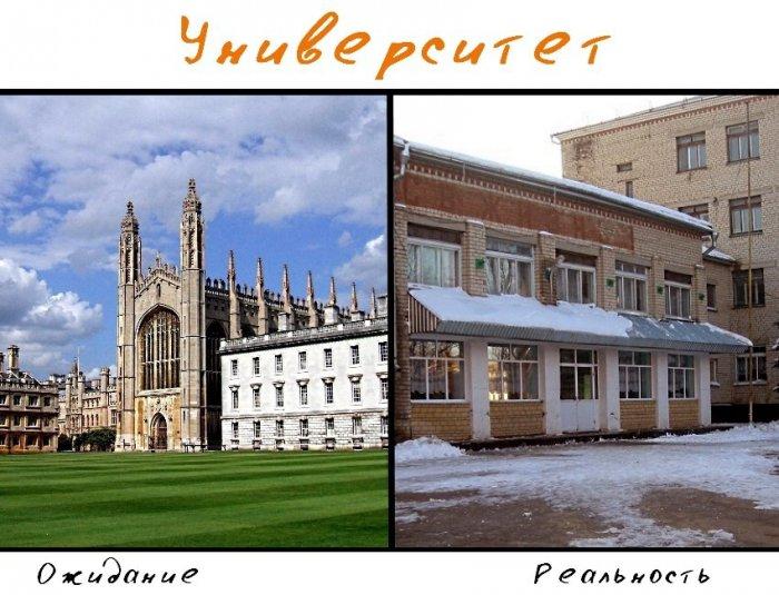 Университет: ожидания и реальность (10 фото)
