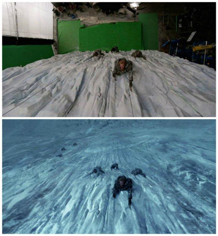 До и после спецэффектов (39 фото)