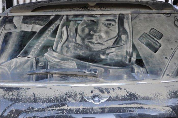 Шедевры на грязных стеклах (16 фото)