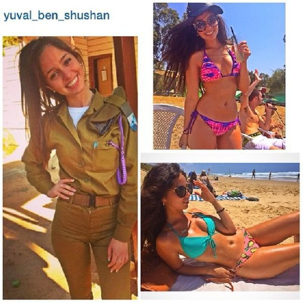 Девушки-красотки в израильской армии (54 фото)