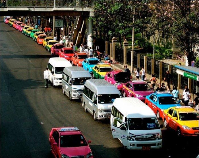 Машины такси в Бангкоке (6 фото)