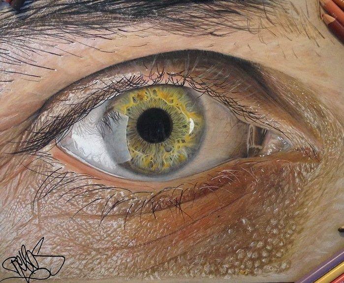 Нереальные рисунки глаза (8 фото)