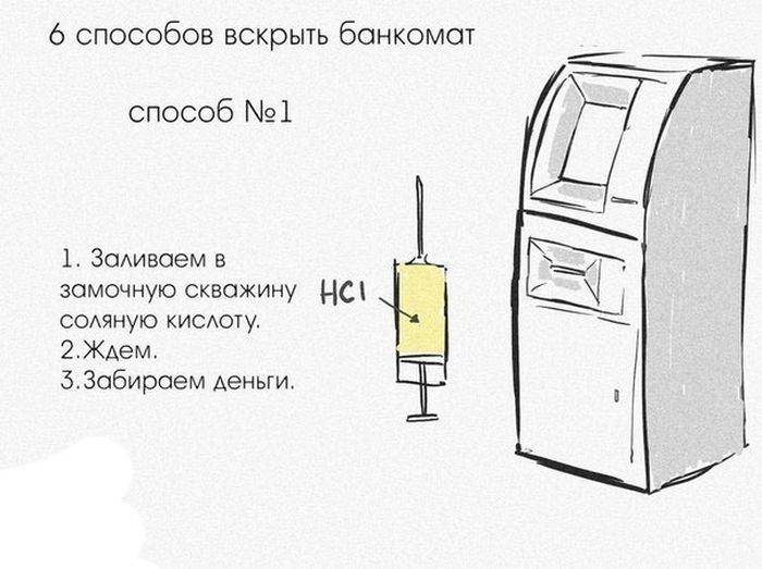 Как вскрыть банкомат (6 фото)