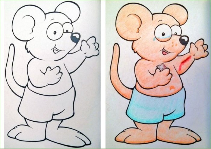 Издевательство над детскими раскрасками (17 фото)