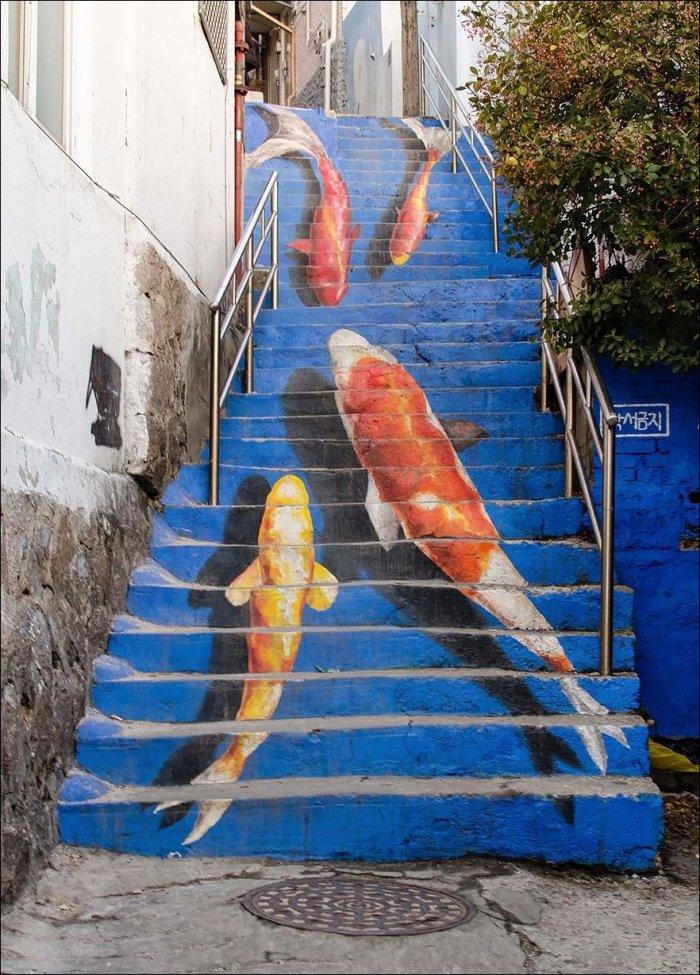 Красивые городские лестницы (15 фото)