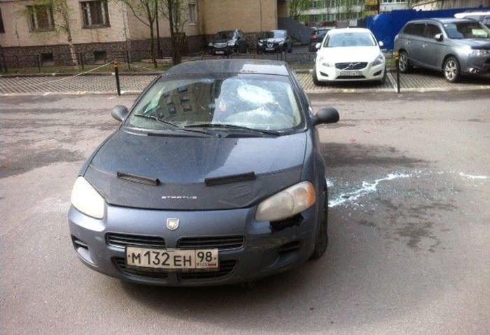 Месть владельцу авто (5 фото)