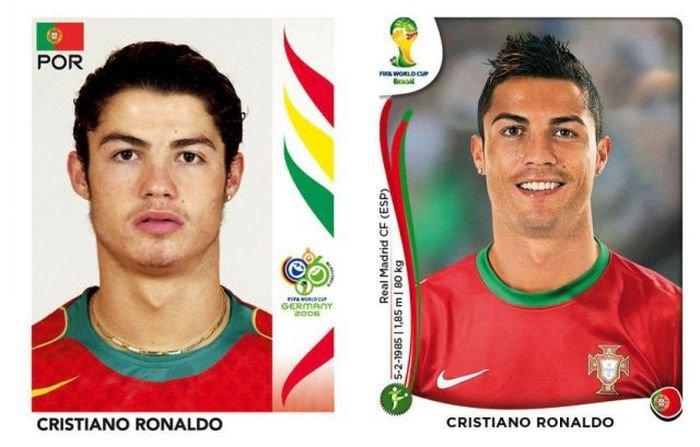 Известные футболисты раньше и сейчас (20 фото)