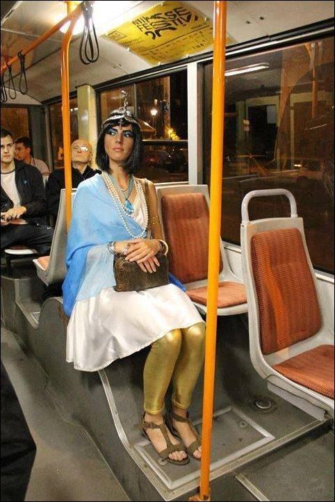 Видео открытки, прикольные картинки в общественном транспорте