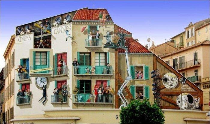Разукрашенные фасады домов (15 фото)