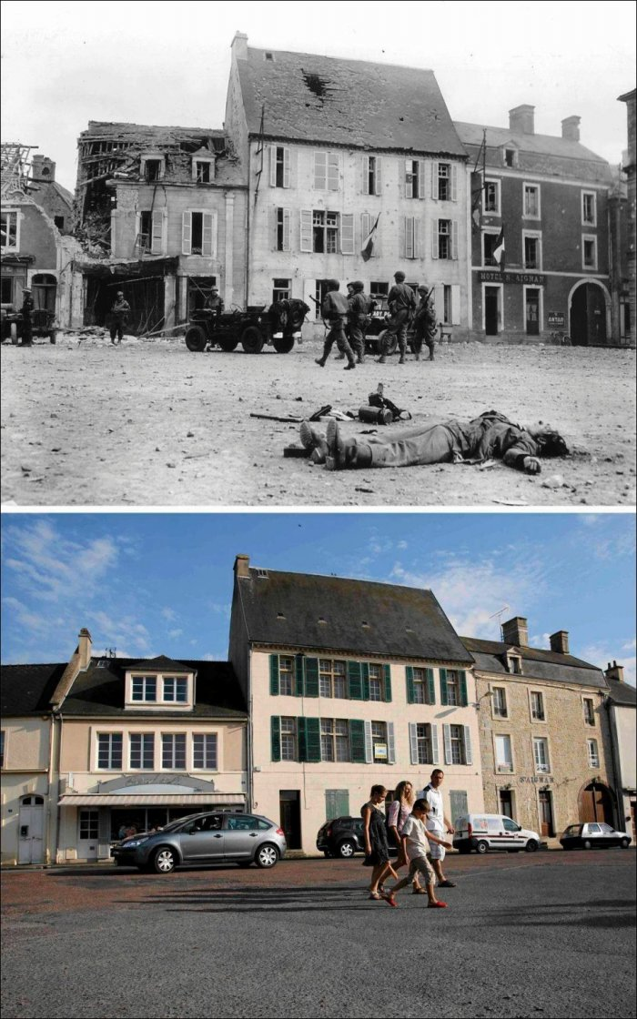 Нормандия раньше и сейчас (10 фото)