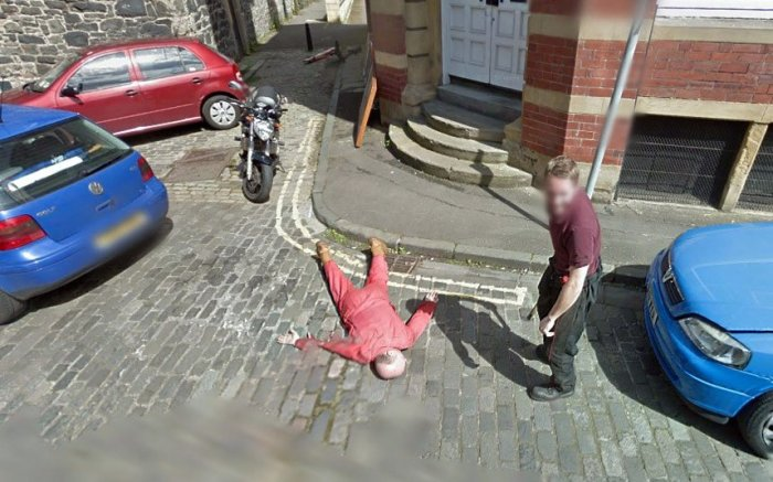 Приколы на Google Street View (22 фото)