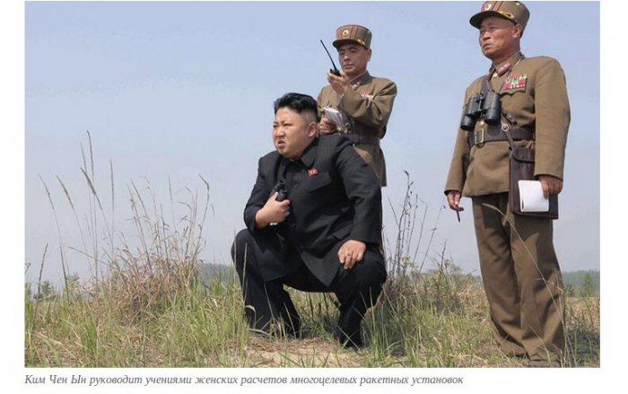 Ким чен Ын ынспектирует страну (11 фото)