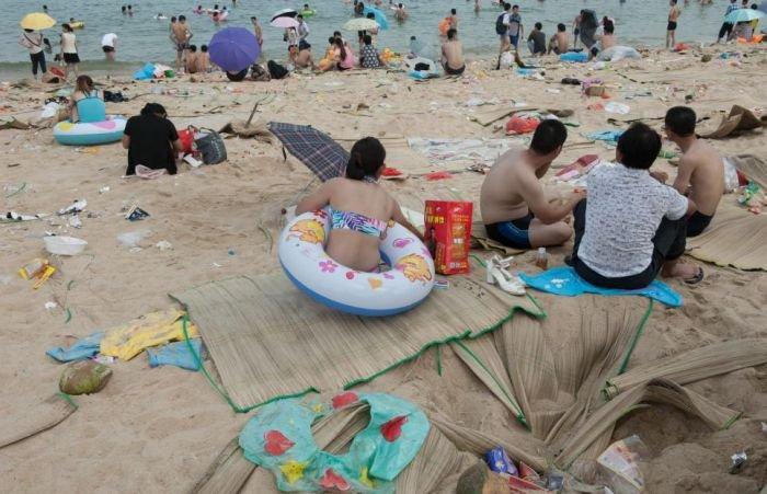 Чистый пляж в Китае (15 фото)