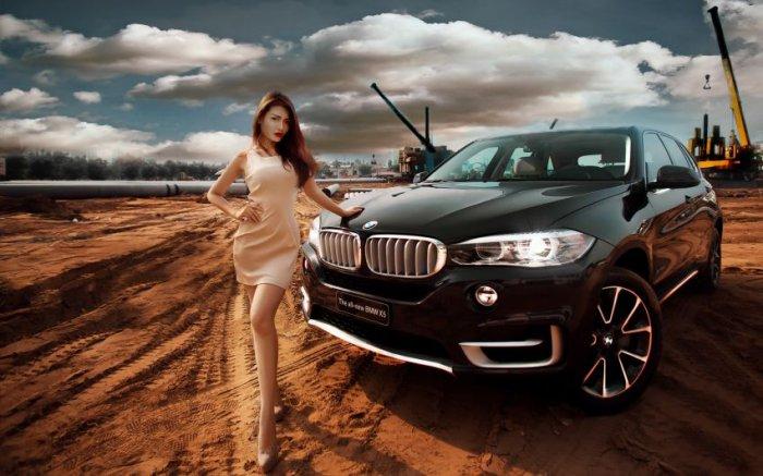 Девушки и автомобили (18 фото)