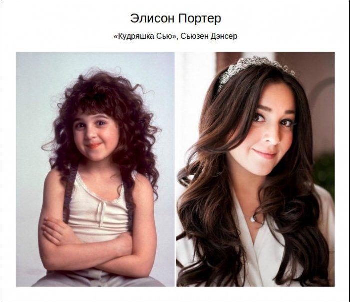 Знаменитые дети раньше и сейчас (17 фото)