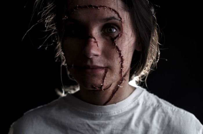 Создание грима для фильма ужасов (23 фото)