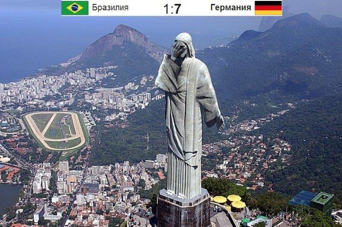 Бразилия 1 : 7 Германия (26 фото)