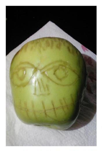 Креатив из яблока (5 фото)