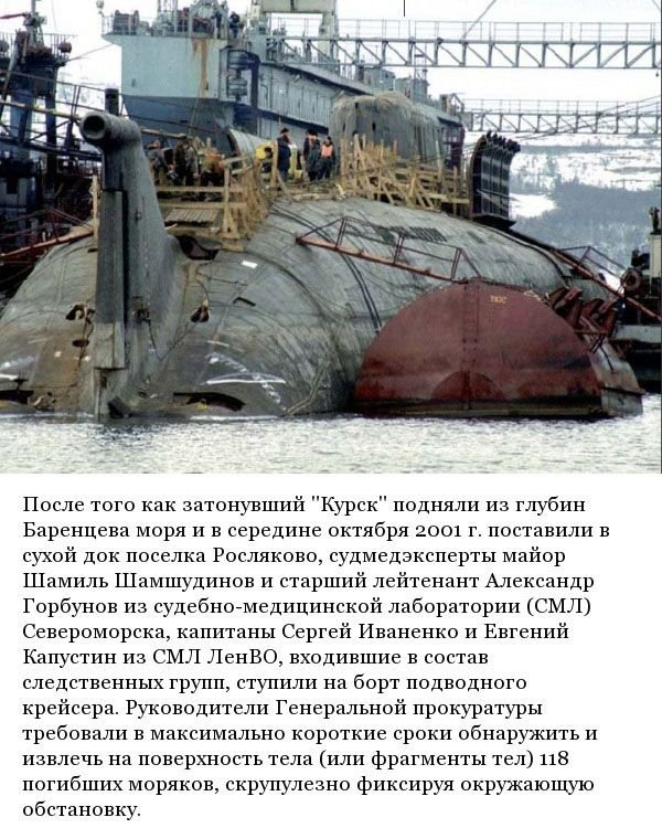 Работа судмедэкспертов на подлодке Курск (12 фото)