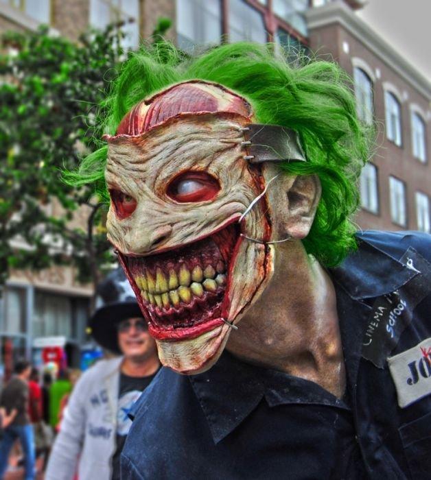 Крутой грим зомби-Джокера (13 фото)