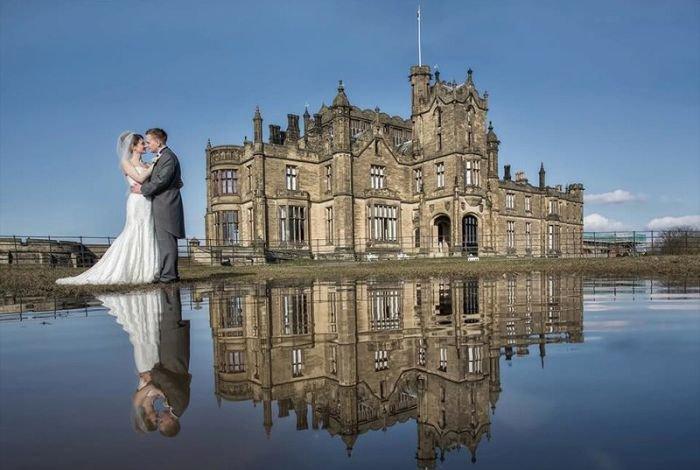 Эффектный свадебный снимок (3 фото)