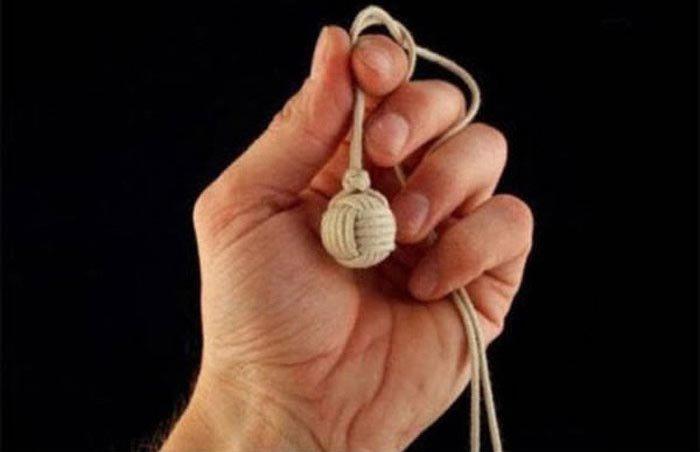 Как сделать необычный узелок в форме шара (10 фото)