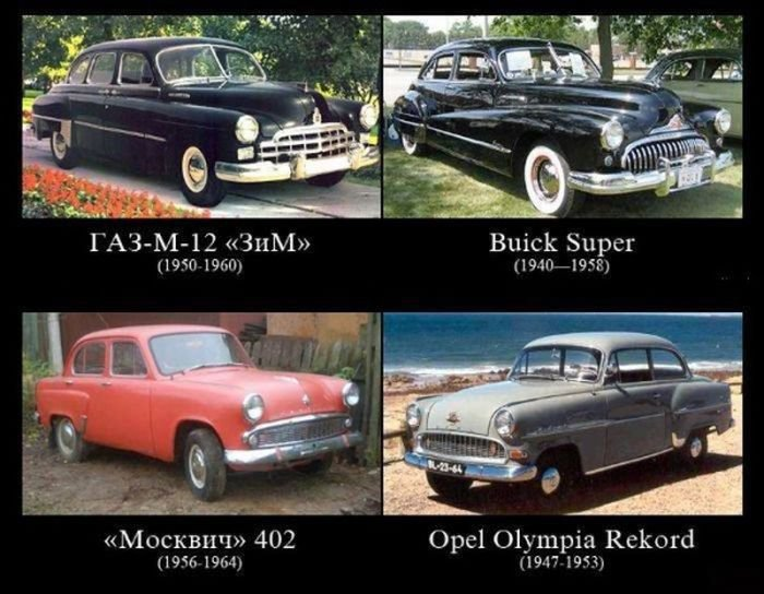 Прототипы отечественных машин (6 фото)