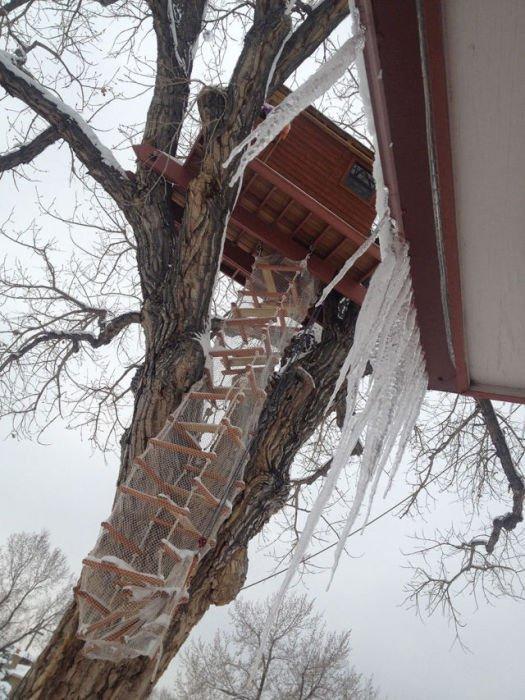Детский домик на дереве (27 фото)