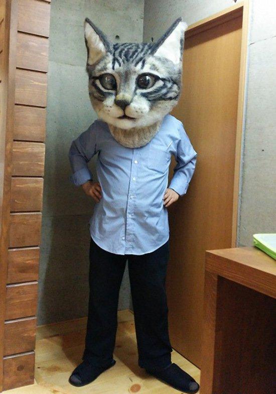 Безумная маска кота (6 фото)