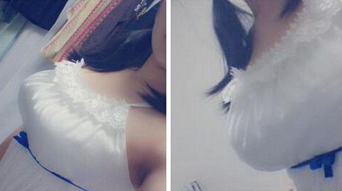 Синяя лента по грудью (14 фото)