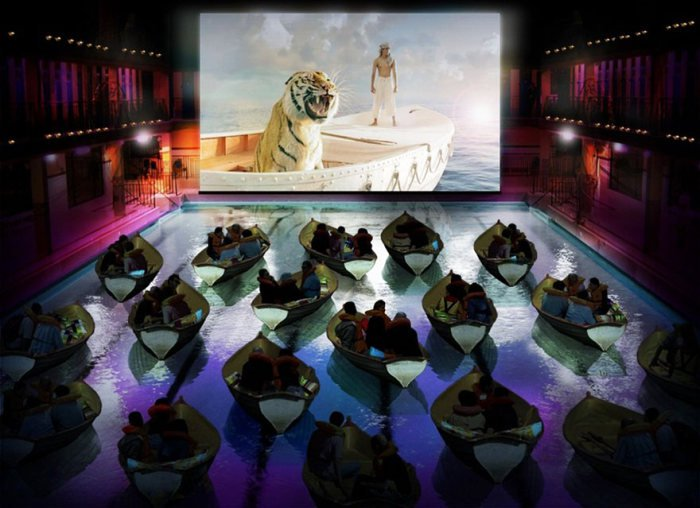 Необычные театры и кинотеатры (31 фото)