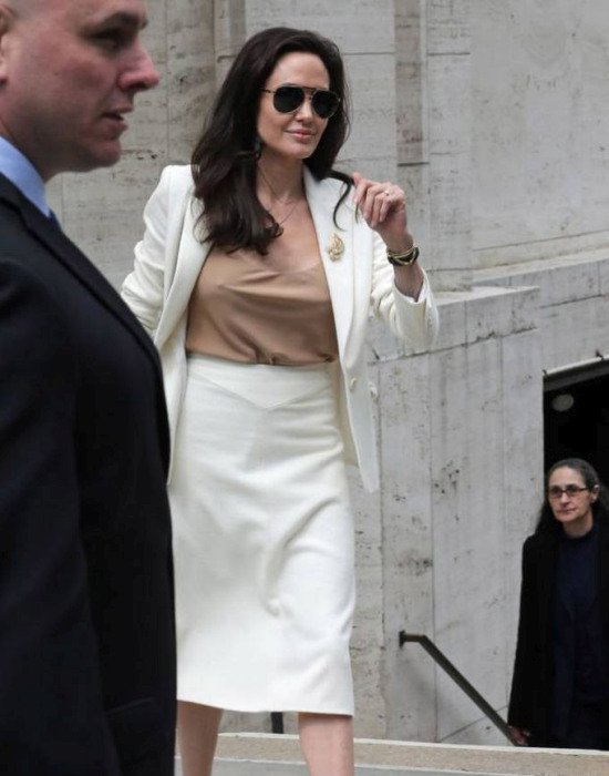 Анджелина Джоли на заседании ООН (4 фото)