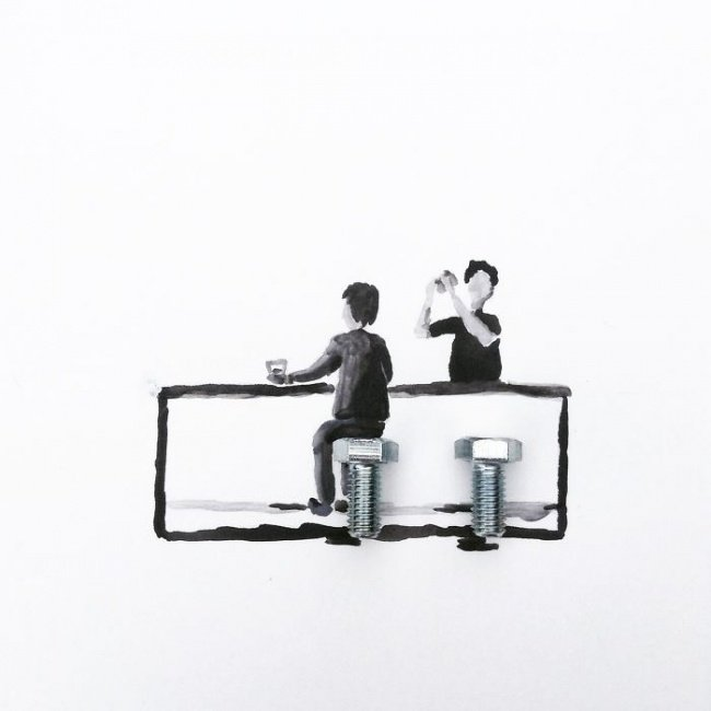 Рисунок и реальность (15 фото)