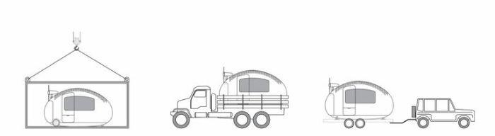 Автономная капсула для жилья в любых условиях (9 фото)