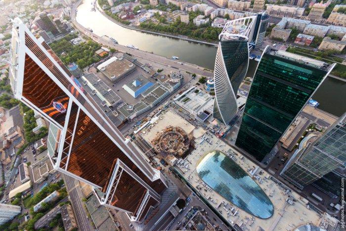 Вид на Москву с башни Федерация Восток (21 фото)