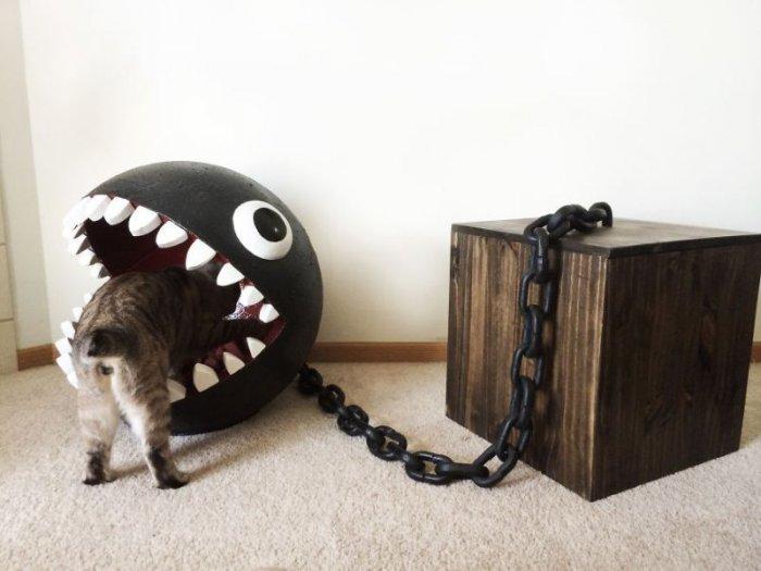 Кровать для котэ от фаната Марио (11 фото)