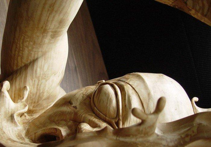 Создание скульптуры из дерева (16 фото)