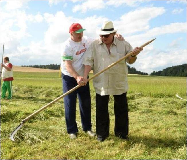 Депардье и Лукашенко (7 фото)