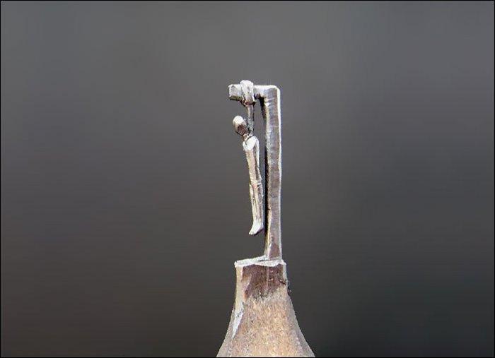 Скульптуры из карандашного грифеля (13 фото)