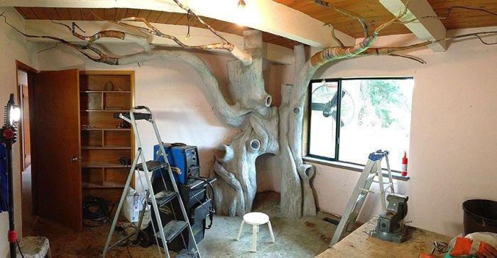 Потрясающее дерево в детской комнате (12 фото)