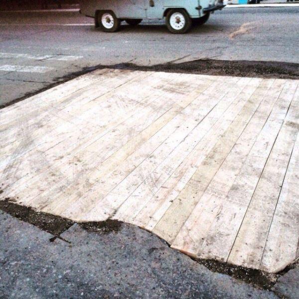 Наноремонт дорожного полотна (2 фото)