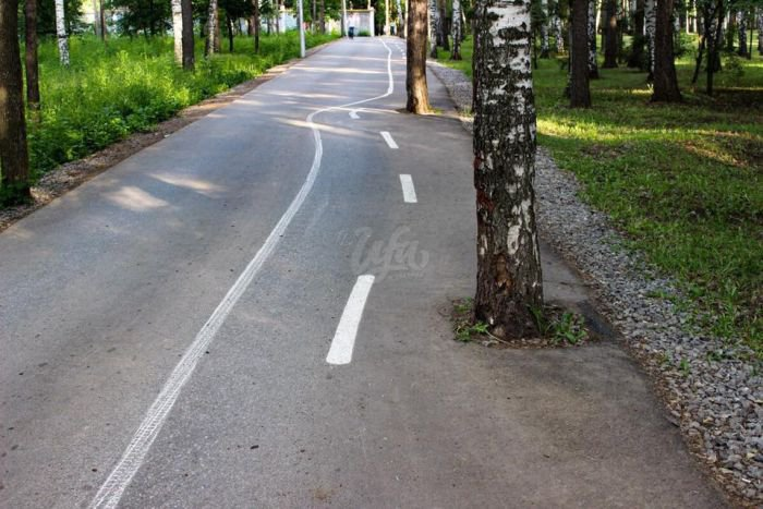 В Уфе проложили велосипедные дорожки (6 фото)