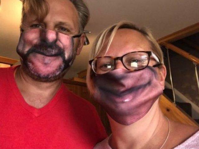 Эпичные защитные маски в виде лица