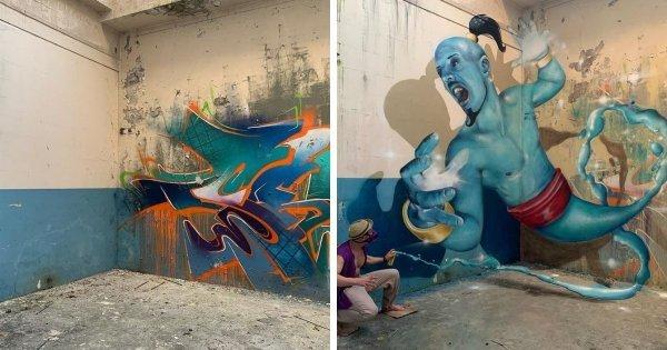 Эффектные 3D-граффити