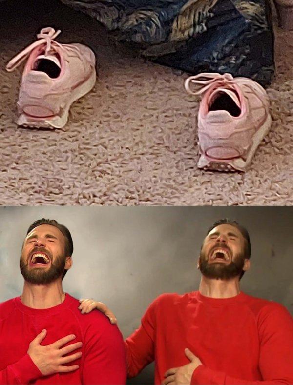 Фотожабы с «кричащими» кроссовками