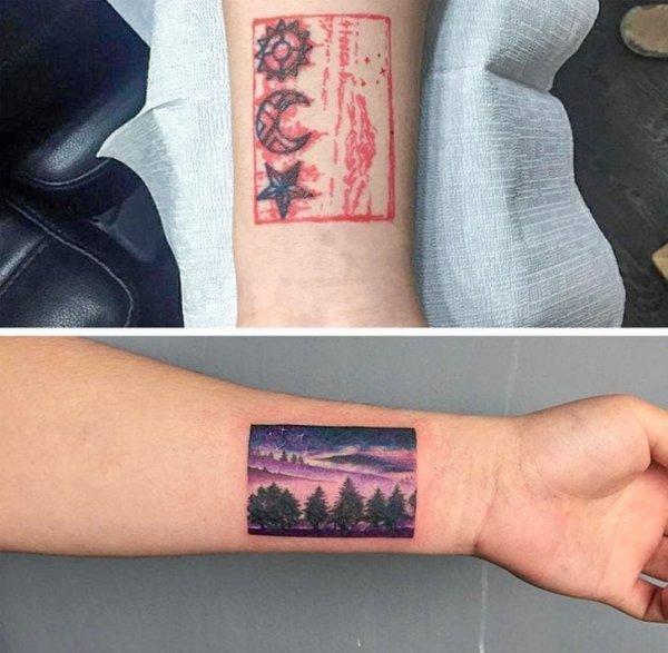 Исправление неудачных татуировок