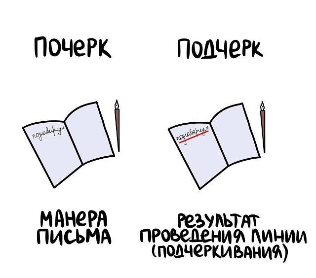 Различия некоторых вещей и понятий