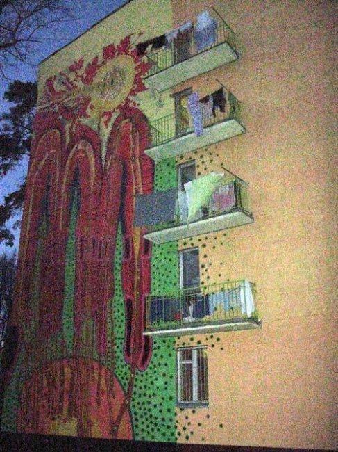 Разрисованные дома (21 фото)