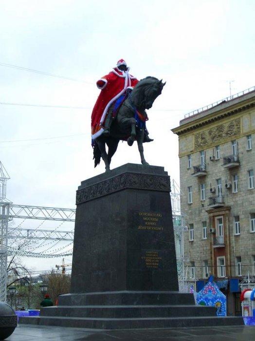 Москва готовится к новому году (15 фото)